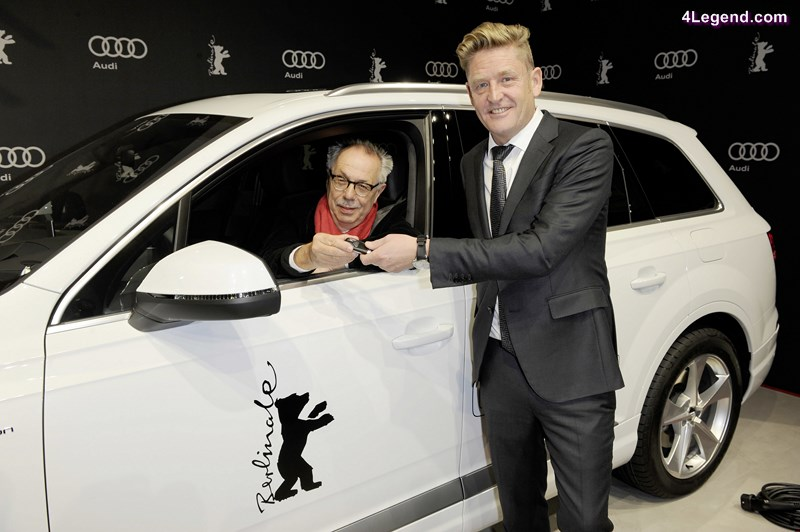 Wayne Griffiths, Head of Sales for Germany at AUDI AG, presented the new Audi Q7 e-tron 3.0 TDI quattro that festival director Dieter Kosslick will be driving to his many appointments during the Berlinale season today.