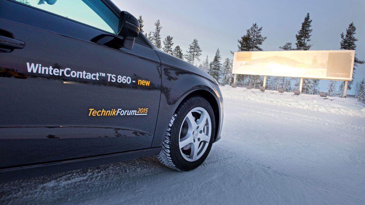 Pneu hiver Continental WinterContact TS 860 - Présentation et essais au Continental TechnikForum 2015