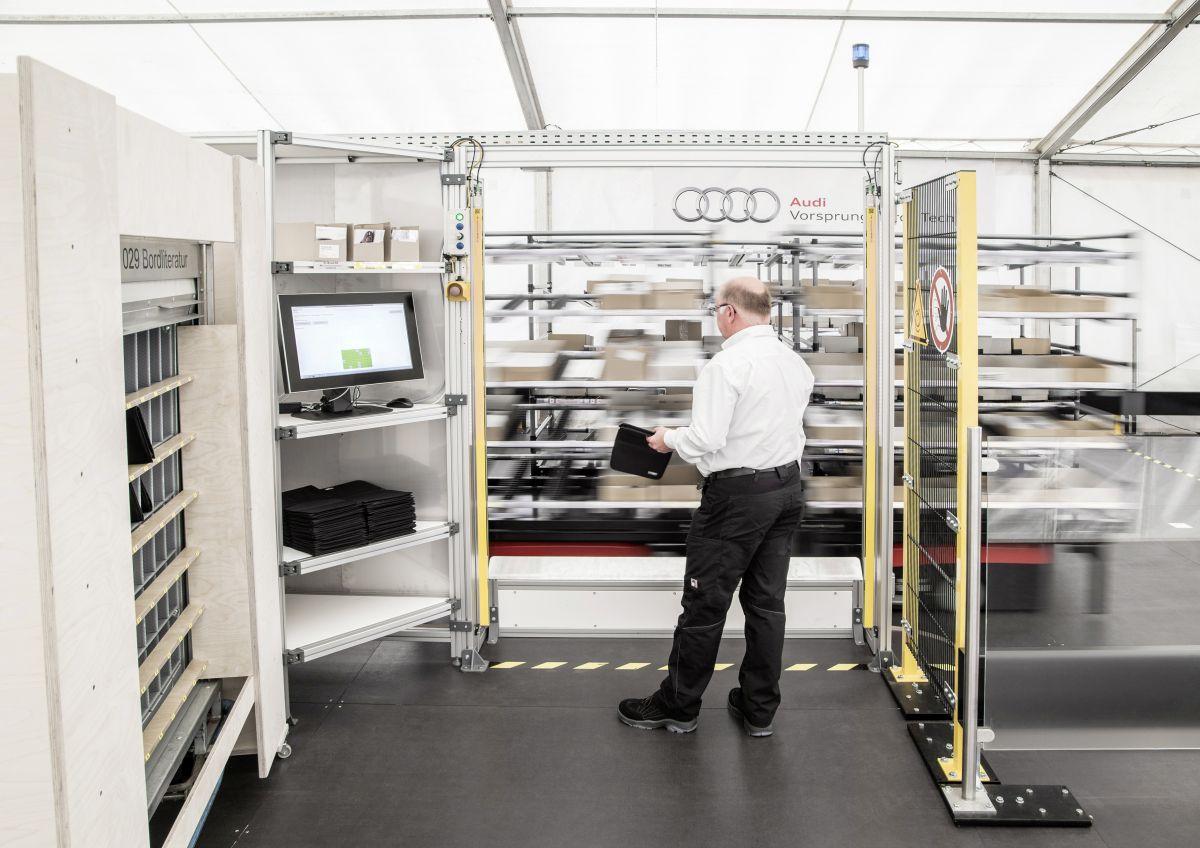 La logistique Audi du futur : les pièces se déplacent de manière autonome jusqu'aux employés
