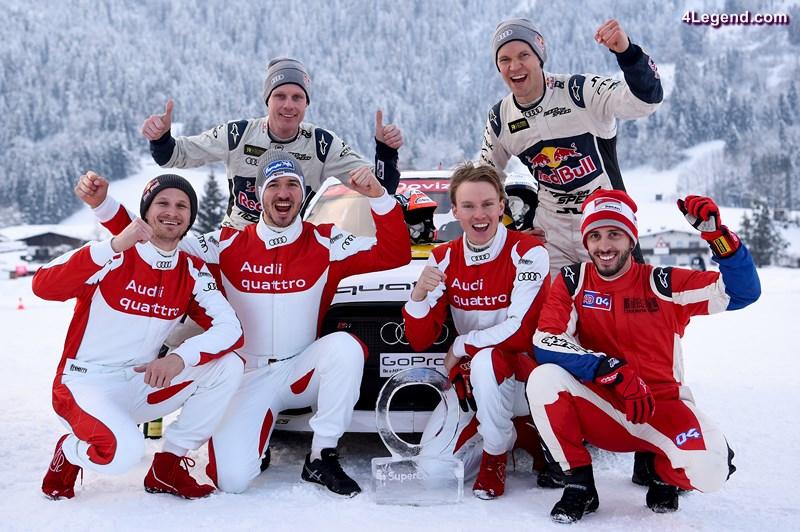 Tadeusz Blazusiak (PL), Felix Neureuther (D), Edward Sandström (S), Henrik Kristoffersen (N), Mattias Ekström (S), Andrea Dovizioso (I)