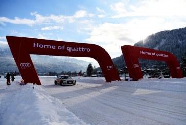 Challenge entre sportifs à l'Audi quattro #SuperQ à Kitzbühel