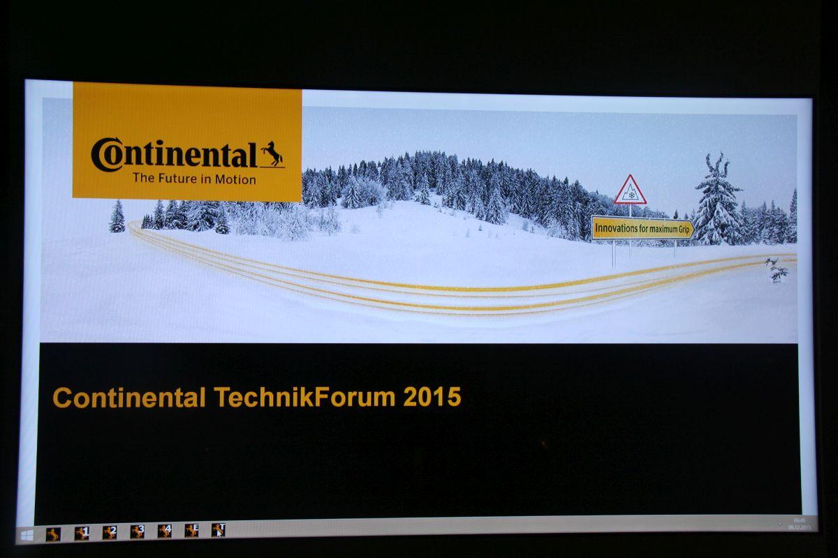 Continental TechnikForum 2015 - Pour mieux comprendre les technologies des pneus hiver