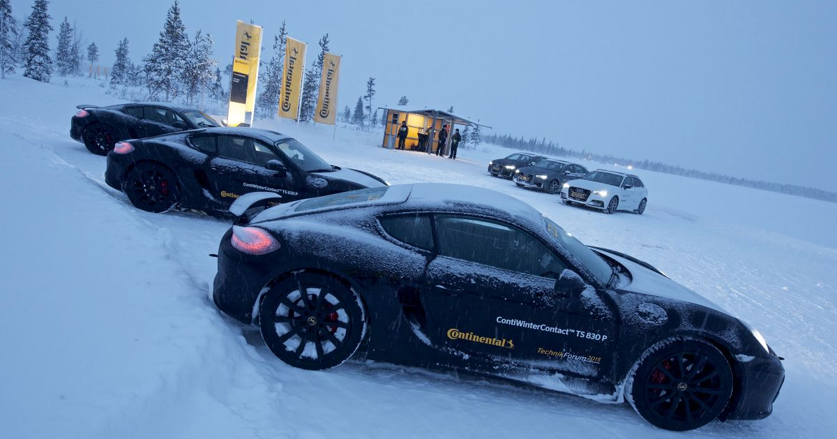 Continental TechnikForum 2015 - Essais des pneus hiver UHP sur Audi RS 3 et Porsche Cayman GTS