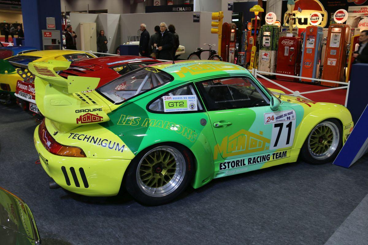 Rétromobile 2016 - Porsche 911 GT2 Evo type 993 de 1997 24 Heures du Mans