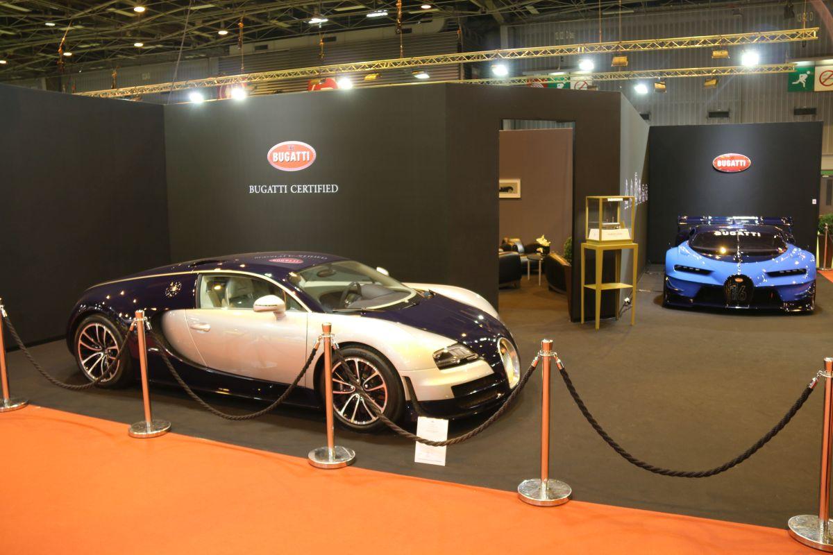 Rétromobile 2016 - Bugatti exposait sa Vision Gran Turismo aux côtés d'une Veyron Super Sport