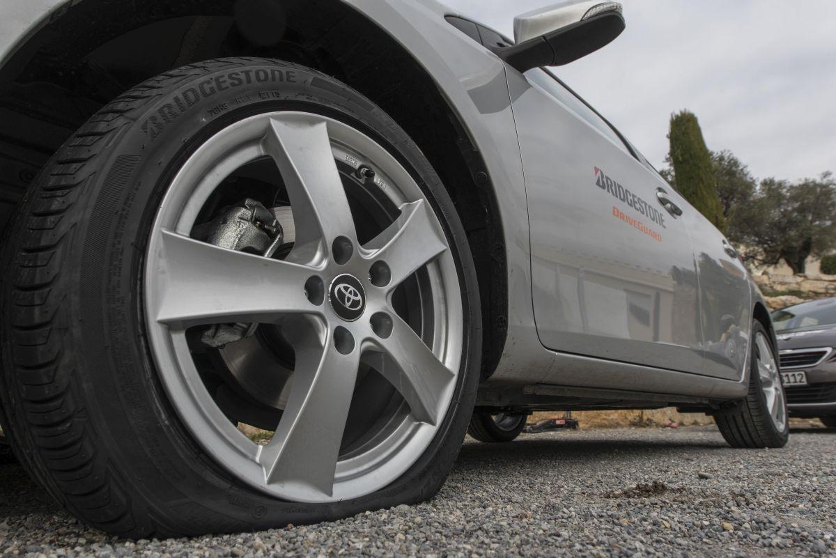 Nouveau pneu Bridgestone DriveGuard permettant de continuer à rouler en cas de crevaison