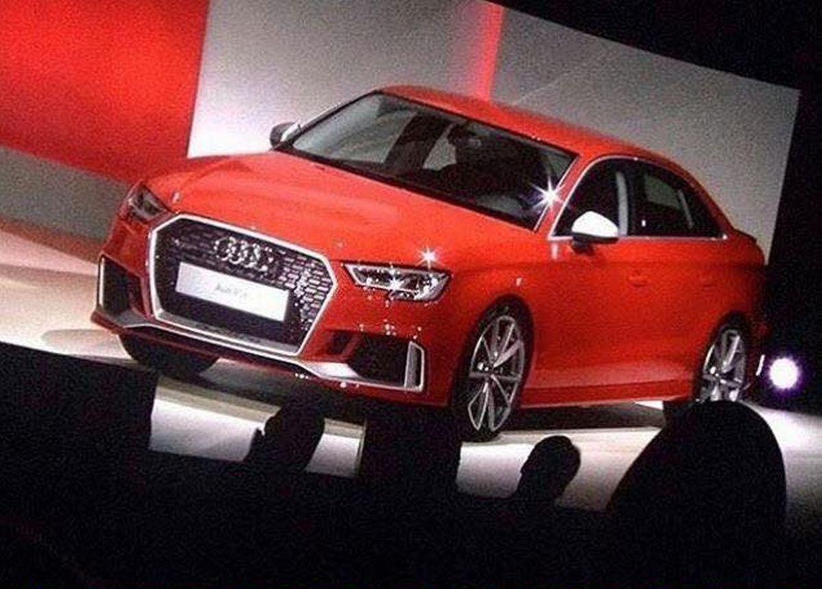 Premières photos de l'Audi RS 3 berline avec le facelift de l'Audi A3