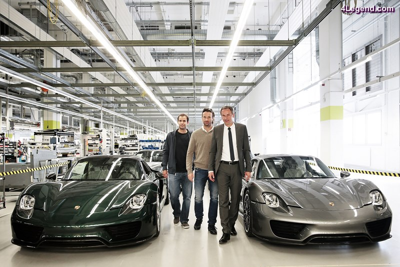 STUTTGART, GERMANY - APRIL 22:  Pete Sampras, Carlos Moya and Dr. Oliver Blume tour the Porsche factory on April 22, 2014 in Stuttgart, Germany.  (Photo by Adam Pretty/Getty Images) *** Local Caption *** Pete Sampras; Carlos Moya; Dr. Oliver Blume