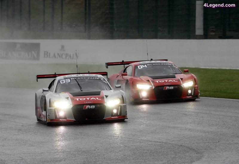 Audi R8 LMS #2 (Audi Sport Team WRT), Nico Müller/Stéphane Ortelli/Frank Stippler, Audi R8 LMS #1 (Audi Sport Team WRT), René Rast/Laurens Vanthoor/Markus Winkelhock