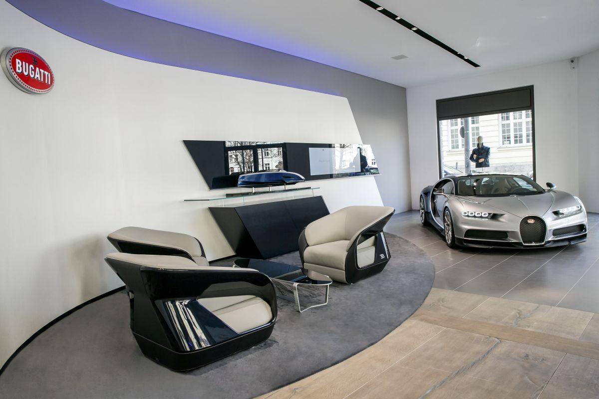Ouverture d'une concession Bugatti à Munich avec une boutique