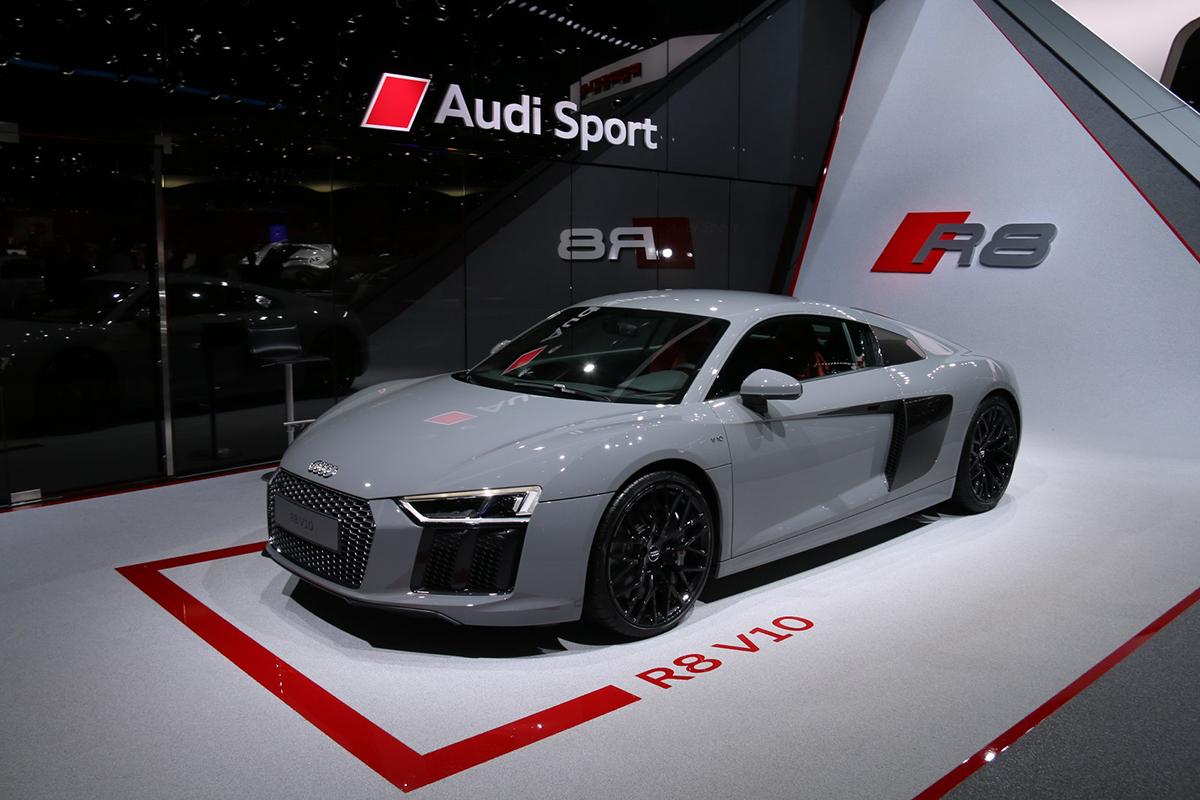 Genève 2016 - Audi R8 V10 et Audi R8 V10 Plus