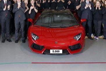 5000 Lamborghini Aventador produites en 55 mois