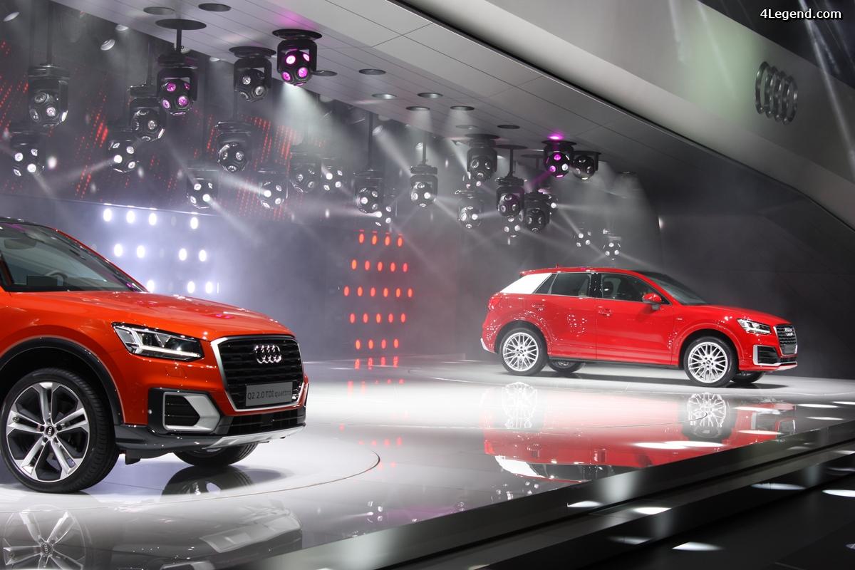 Genève 2016 - conférence de presse Audi et présentation du Q2