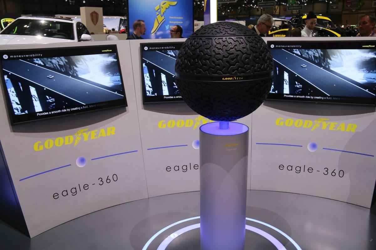 Genève 2016 - Goodyear Eagle-360, un concept de pneu visionnaire pour les véhicules autonomes de demain