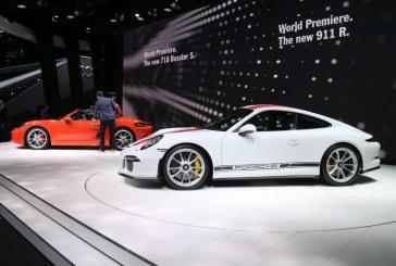 Genève 2016 – Stand Porsche avec les 911 R et 718 Boxster en première mondiale