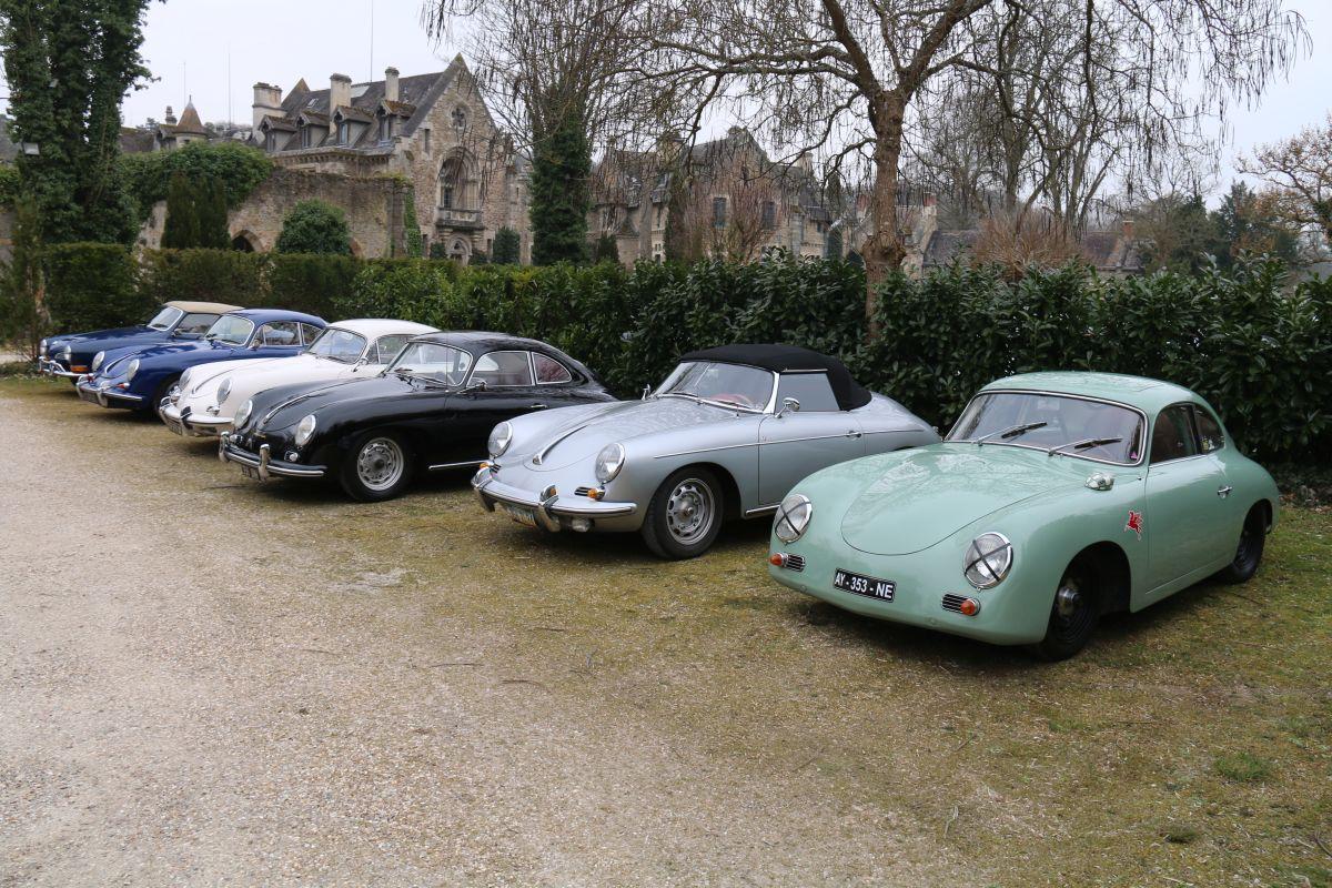 Rassemblement de Porsche 356 aux Vaux-de-Cernay