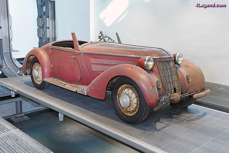 Zieht die Blicke auf sich: der Wanderer W 25 K Roadster aus dem Jahr 1936 in unrestauriertem Zustand.