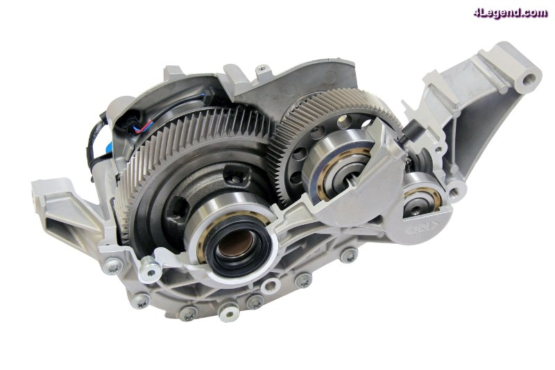 GKN Driveline has developed the industry's first two-speed eAxle which delivers electric power throughout the vehicle's entire speed range, optimized for weight, packaging and efficiency. The two-speed eAxle supports effective hybridization, contributing to an outstanding driving experience. (PRNewsFoto/GKN)