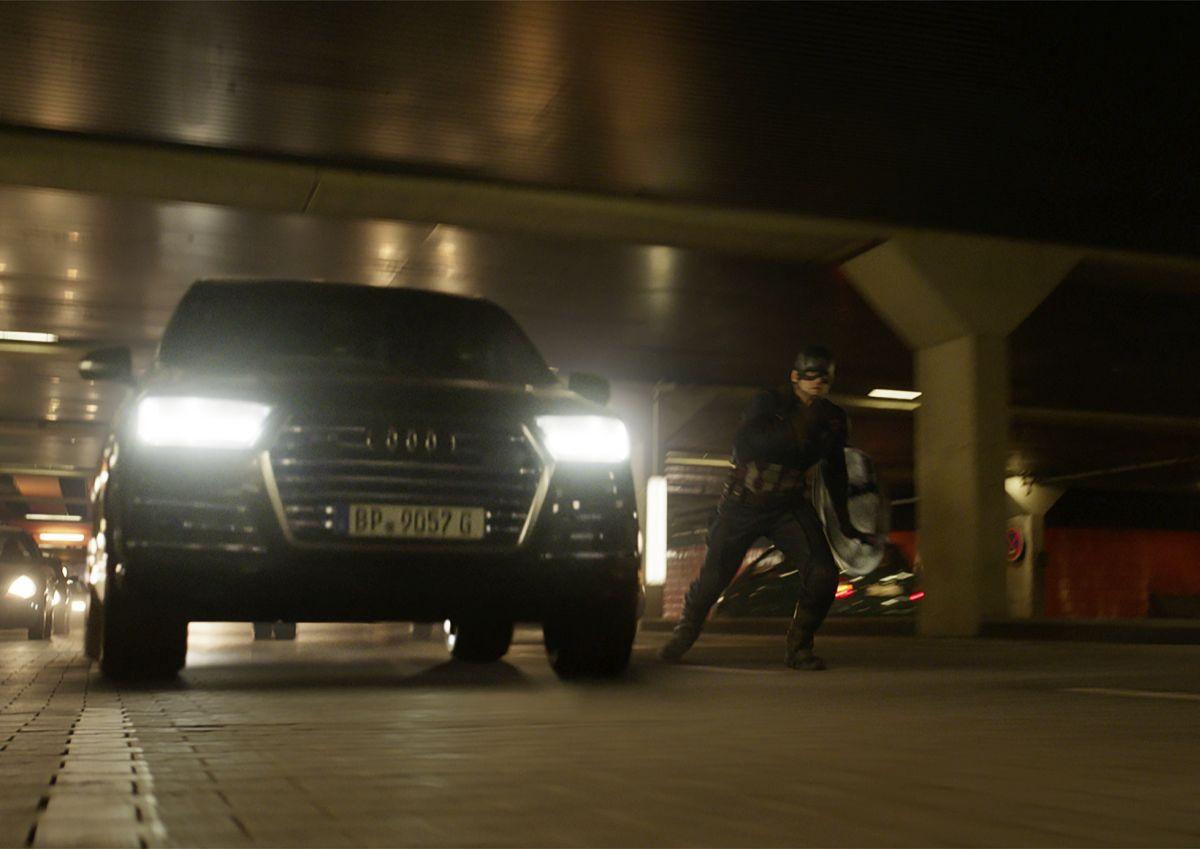 "L'Audi SQ7 TDI à l'écran dans le dernier film de Marvel ""Captain America : Civil War"""