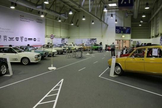 Techno Classica 2016 – Stand Audi Club International mettant en valeur le Patrimoine d'Audi