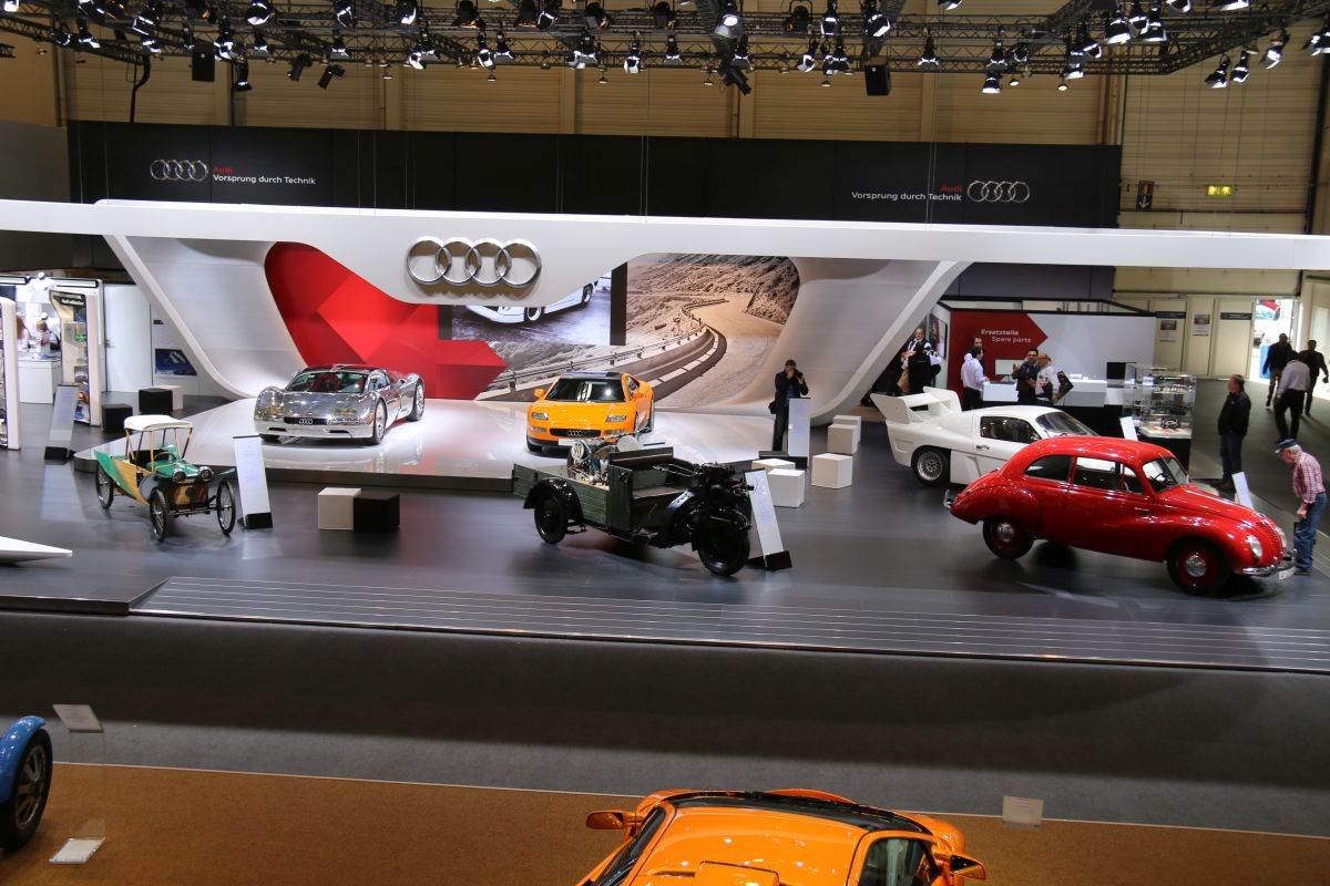 Techno Classica 2016 - Stand Audi Tradition mettant à l'honneur des raretés