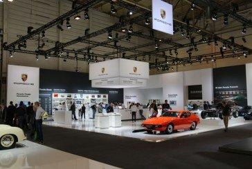Techno Classica 2016 – Stand Porsche célébrant les 40 ans des Porsche à moteur avant