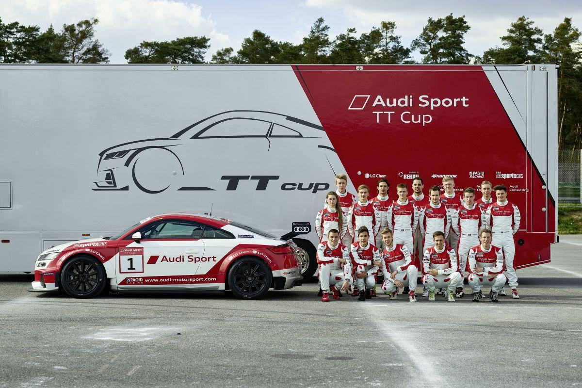 Ouverture de l'Audi Sport TT Cup avec les champions Andreas Mikkelsen et Scott Speed