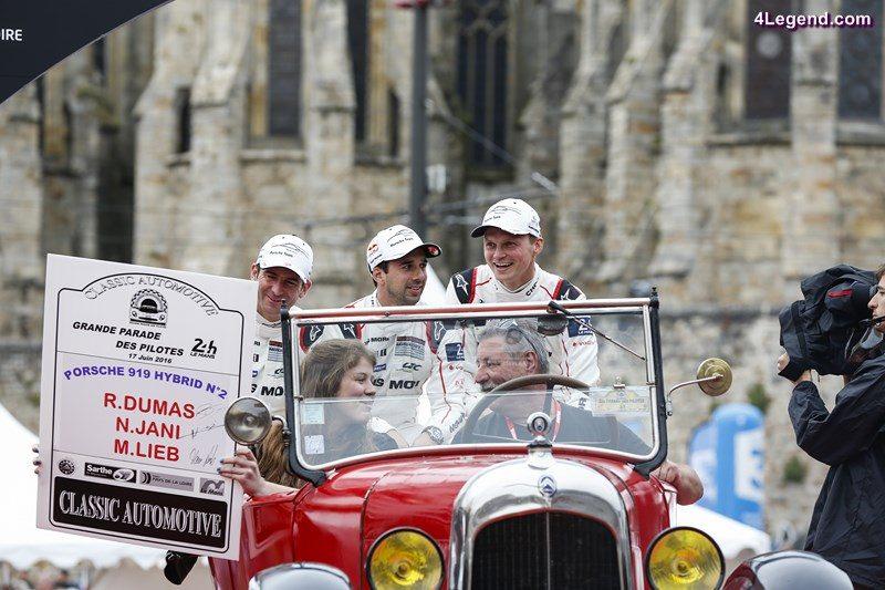 Porsche Team: Romain Dumas, Neel Jani, Marc Lieb (l-r)