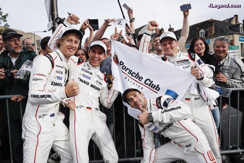 Porsche Team: Brendon Hartley, Timo Bernhard, Neel Jani, Marc Lieb (l-r)