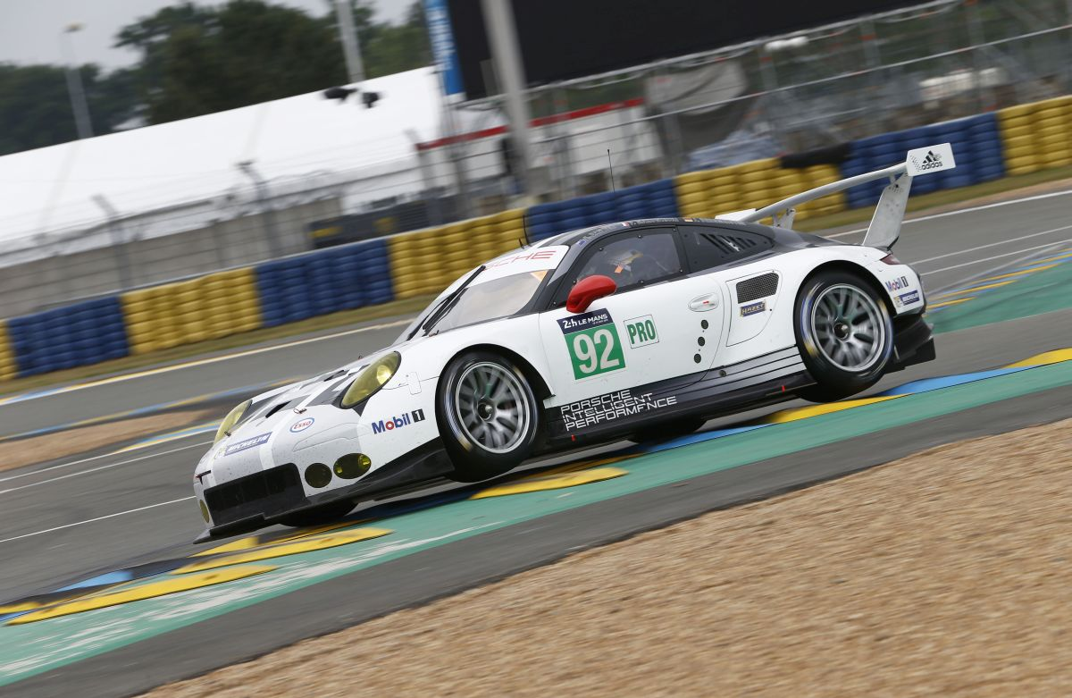24 Heures du Mans 2016 - Les équipes Porsche en GTE Pro en tête lors de la journée test