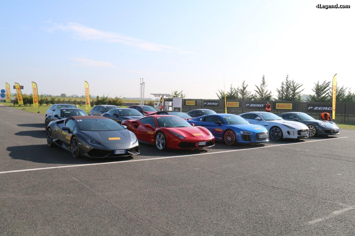 Essais des nouveaux pneus Pirelli P Zero sur des supercars, des sportives et des berlines