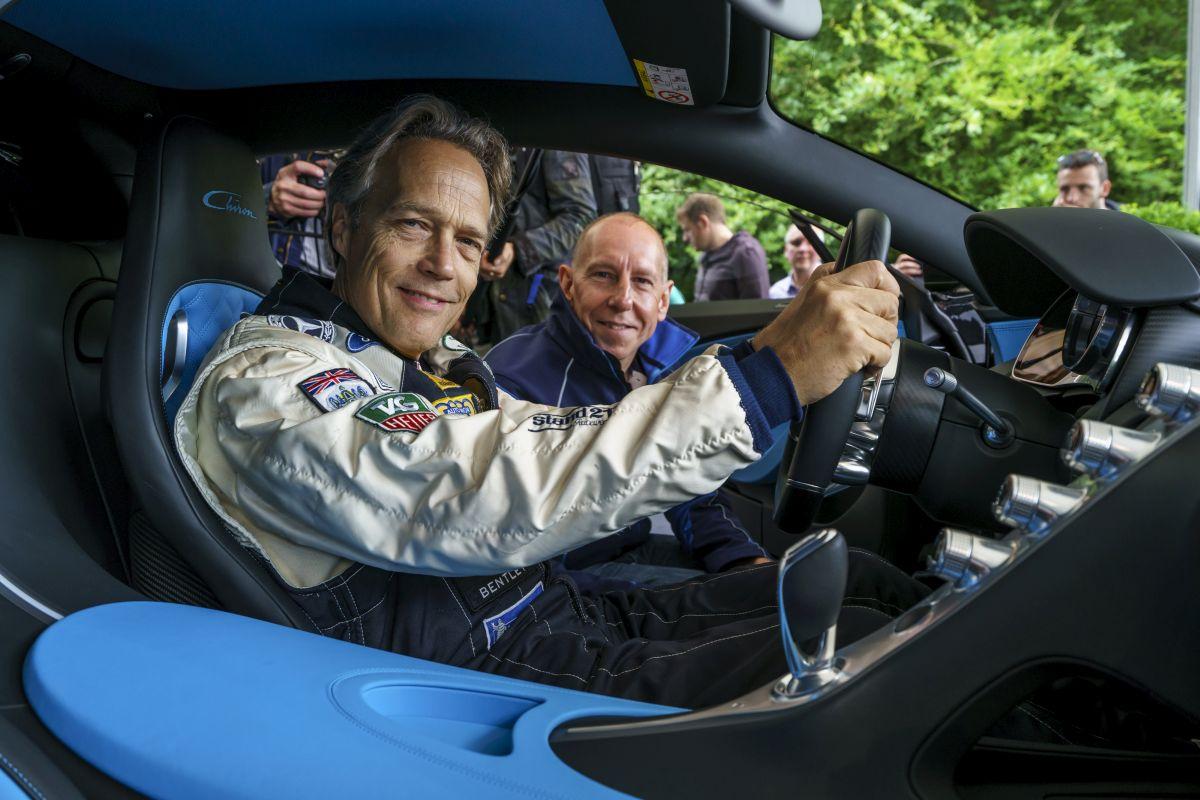 Goodwood 2016 - Lord March conduit la Bugatti Chiron