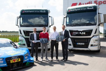 Audi Sport prend possession de nouveaux camions MAN TGX XXL à Neuburg