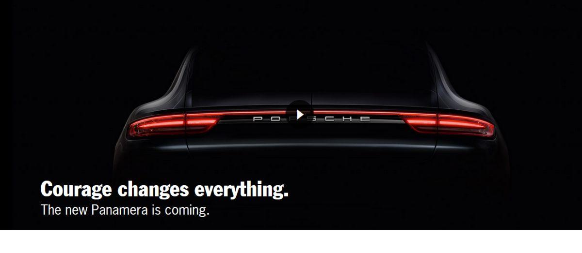 Première image de la nouvelle Porsche Panamera - Présentation le 28 juin 2016