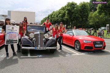 24 Heures du Mans 2016 – Parade des pilotes avec de nombreuses Porsche, Lamborghini, Audi, Horch, Bugatti