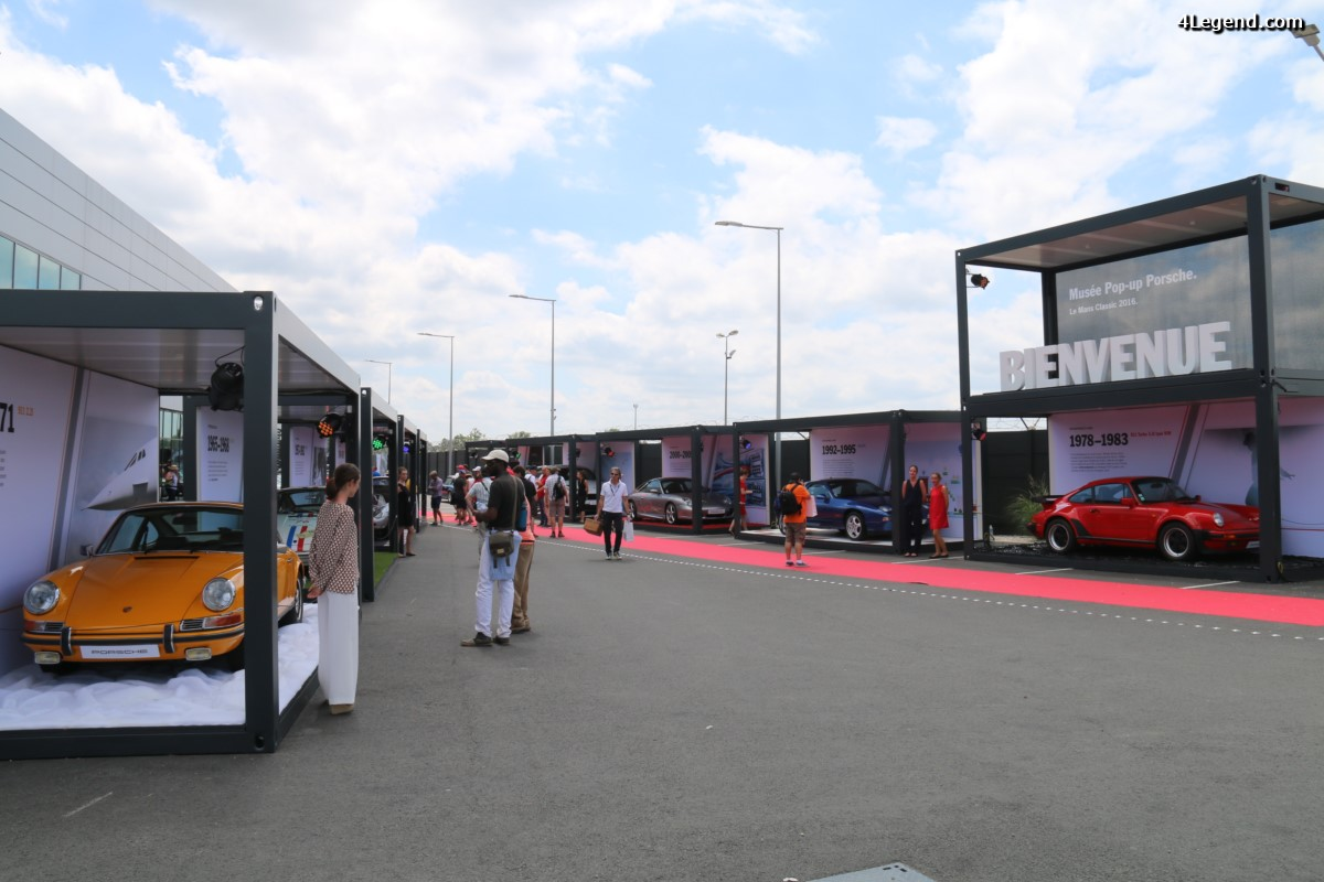 Le Mans Classic 2016 - Musée Pop-up Porsche au Porsche Experience Center