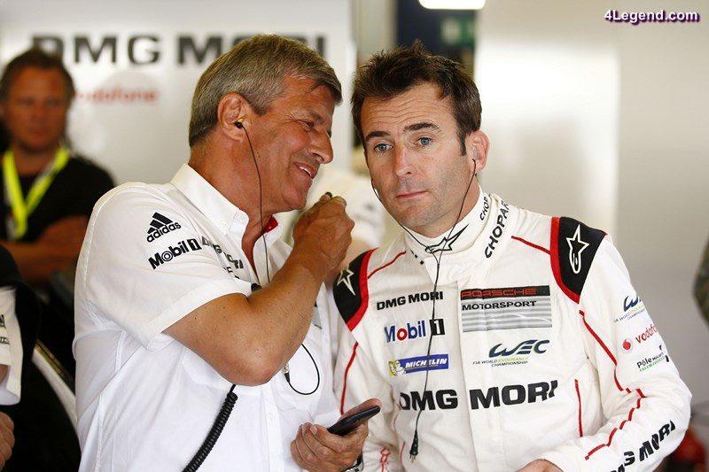 Fritz Enzinger, Leiter LMP1,  Porsche Team: Romain Dumas (l-r)
