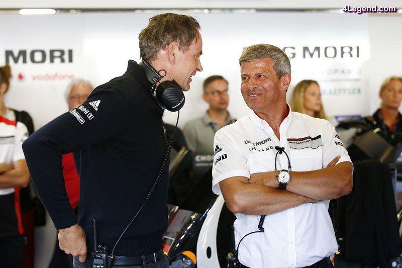 Oliver Blume (Chairman of the Executive Board of Porsche AG), Fritz Enzinger, Leiter LMP1 (l-r)