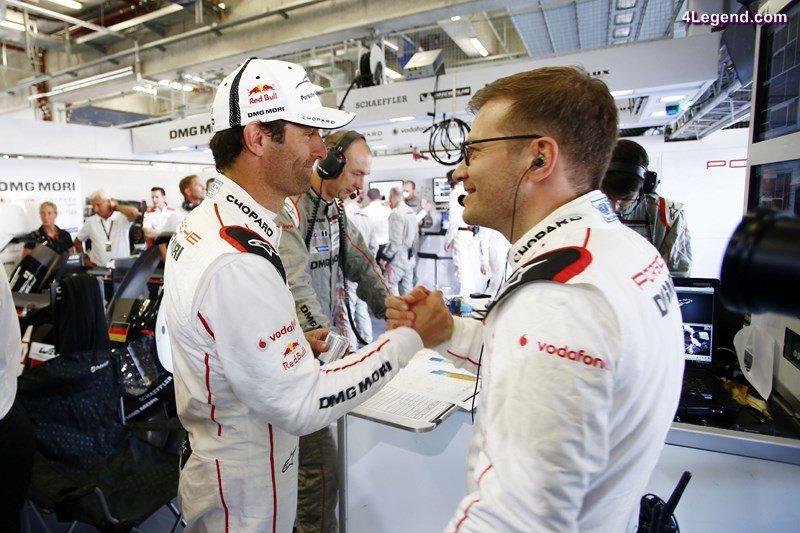 Porsche Team: Mark Webber, Andreas Seidl, Teamchef Porsche Team (l-r)