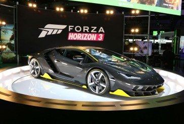 Exposition de la Lamborghini Centenario à la présentation mondiale du jeu Forza Horizon 3