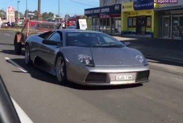 Insolite – Une Lamborghini Murciélago tractant une remorque