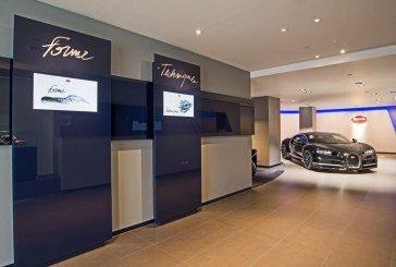 Réouverture d'un showroom Bugatti à Londres au nouveau design de la marque