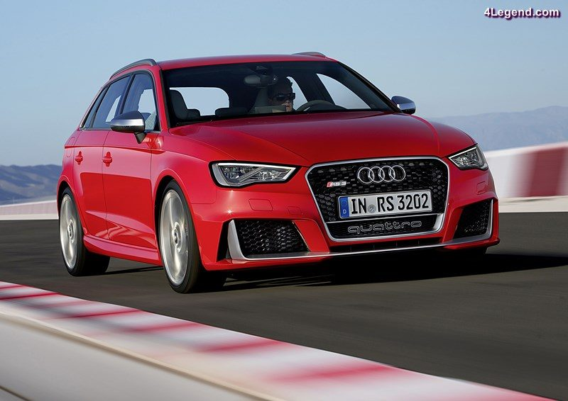 2015: 2.5 TFSI with gasoline direct injection, turbocharger and intercooler: In the summer of 2015, the second-generation RS 3 Sportback* appears – the most powerful car in the premium compact segment with an output of 270 kW (367 hp). The combination of turbocharging and direct injection permits a high compression ratio of 10:1 and correspondingly good efficiency. The five-cylinder inline engine delivers a maximum of 465 newton meters (342.97 lb-ft) to the crankshaft. This torque is available from as low as 1,625 revolutions per minute and remains constant up to 5,550 rpm. Since spring 2016, Audi has been using the optimized version of the powerplant in the Audi RS Q3 performance* too.