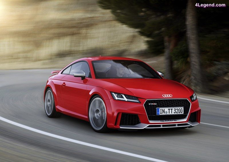 2016: 2.5 TFSI with gasoline direct injection, turbocharger and intercooler: At the Beijing Motor Show in 2016, Audi presents the new TT RS Coupe* and the new TT RS Roadster*. The five-cylinder unit has been enhanced in every area – with lightweight construction measures, reduced internal friction, increased power delivery. From an unchanged displacement of 2,480 cc, the turbocharged engine gains a good 17 percent increase in performance. With an output of 294 kW (400 hp) it is more potent than ever before. The maximum torque of 480 newton meters (354.03 lb-ft) is available between 1,700 and 5,850 revolutions per minute. It ensures outstanding pulling power, which accompanies the unmistakable five-cylinder sound.