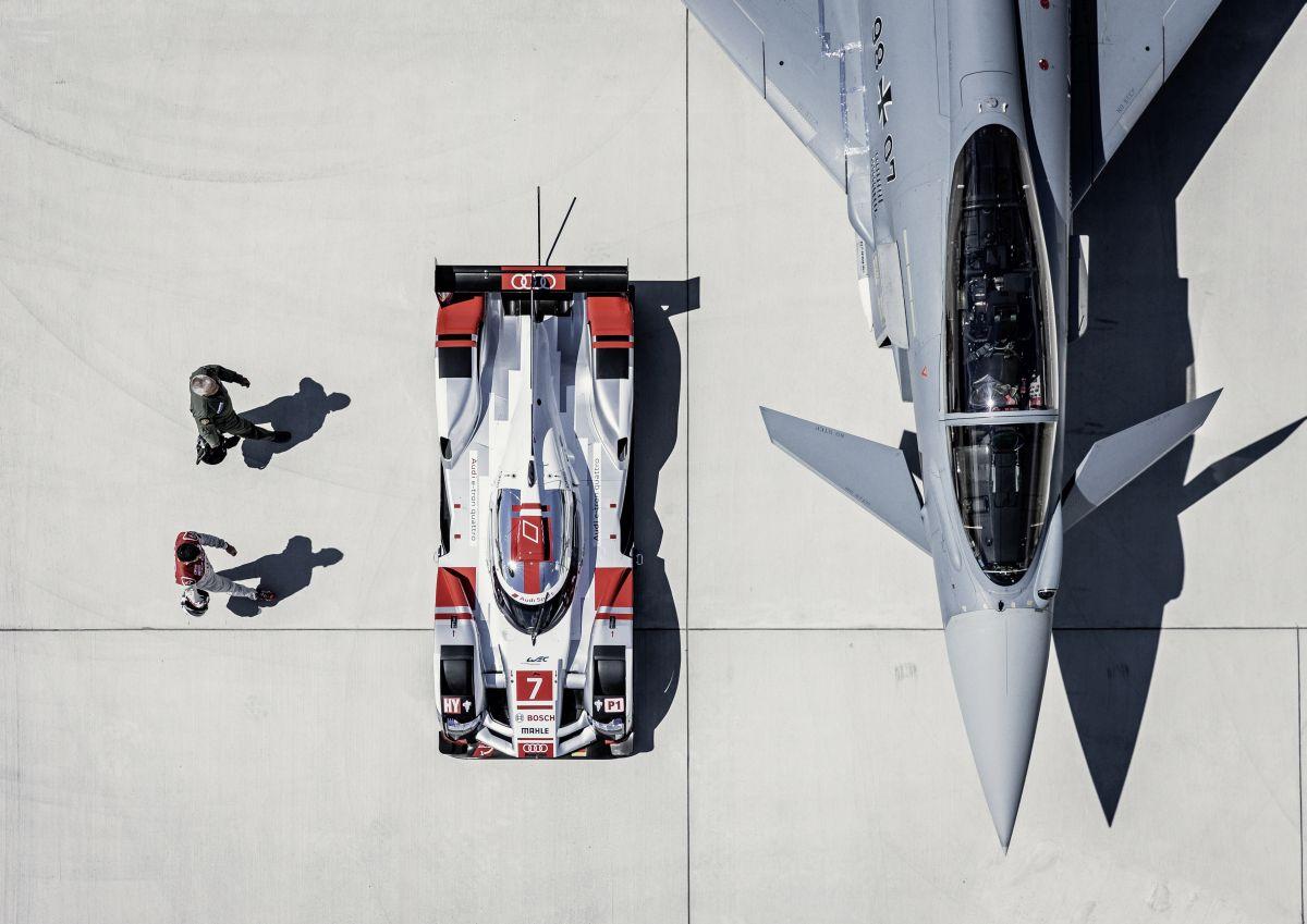 Audi R18 e-tron quattro vs Eurofighter Typhoon - Le choc des titans