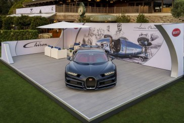 Présentation de la Bugatti Chiron au Quail en Californie