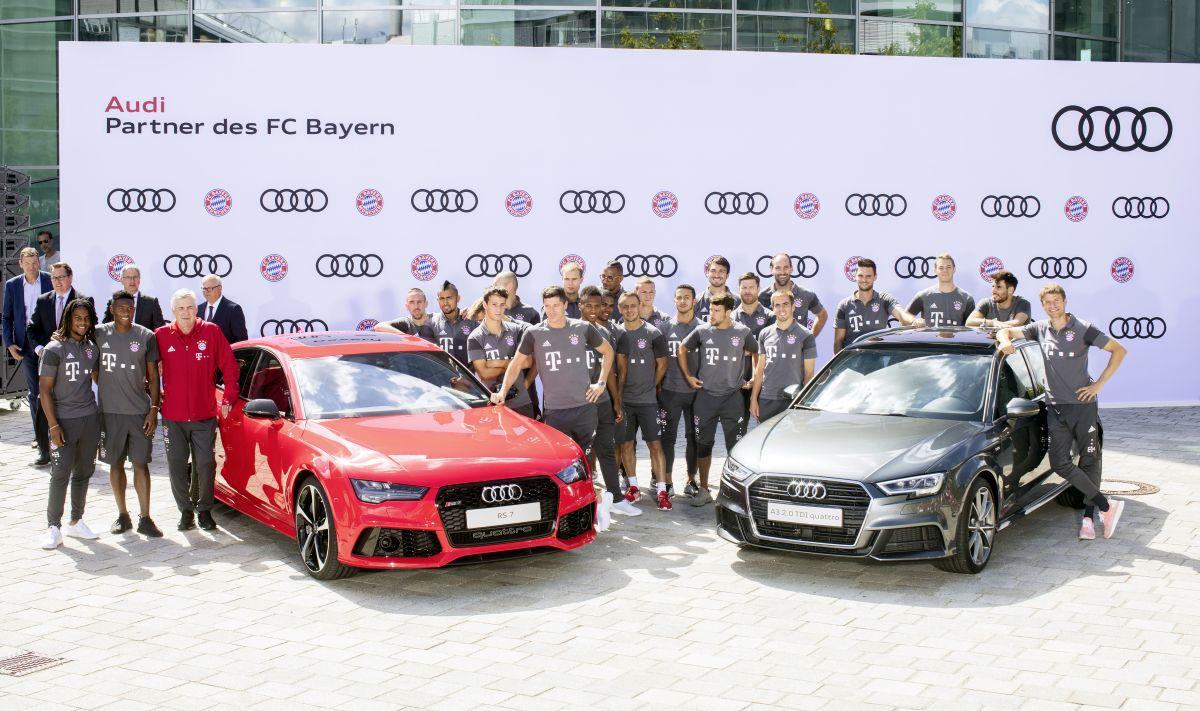 Livraison des Audi du FC Bayern à Ingolstadt