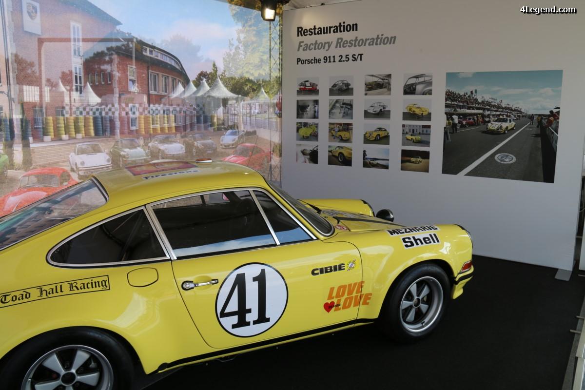 Le Mans Classic 2016 - Porsche 911 2.5 S/T ayant gagné aux 24 Heures du Mans 1972