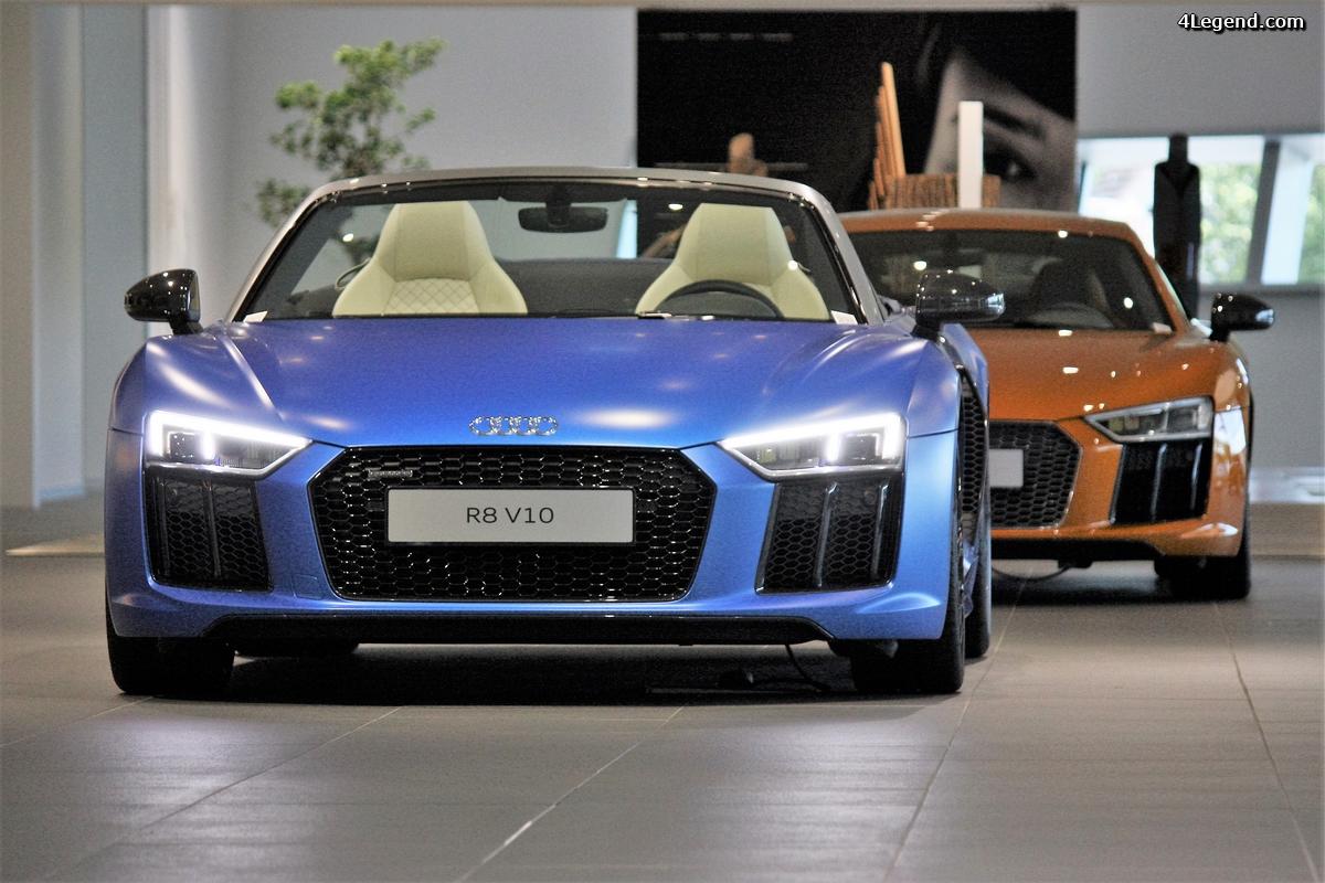 Audi R8 Spyder et Coupé Audi exclusive.