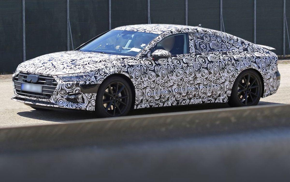Spyshots de la future Audi A7 Sportback de 2018 - Une version électrique en préparation?